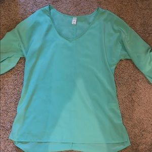 Old Navy mint green ¾ sleeve blouse, size small